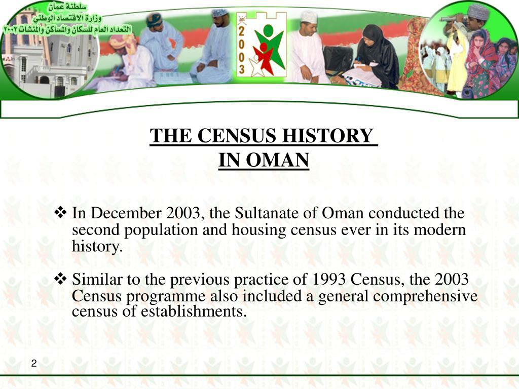 THE CENSUS HISTORY