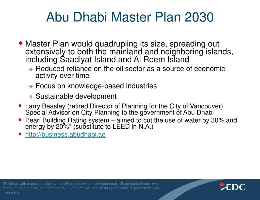 Abu Dhabi Master Plan 2030