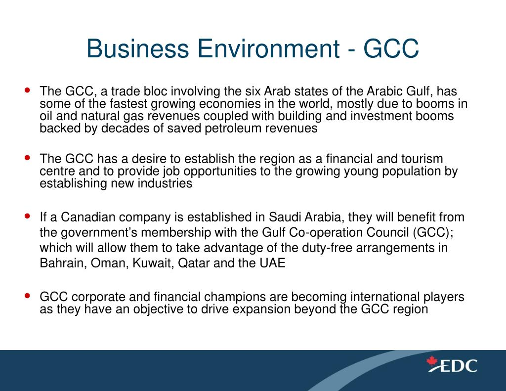 Business Environment - GCC