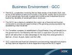 business environment gcc