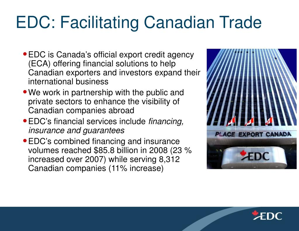 EDC: Facilitating Canadian Trade