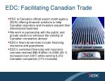 edc facilitating canadian trade