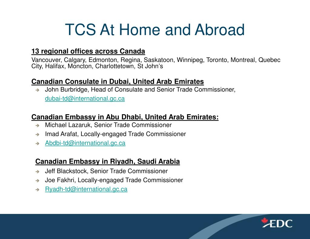TCS At Home and Abroad
