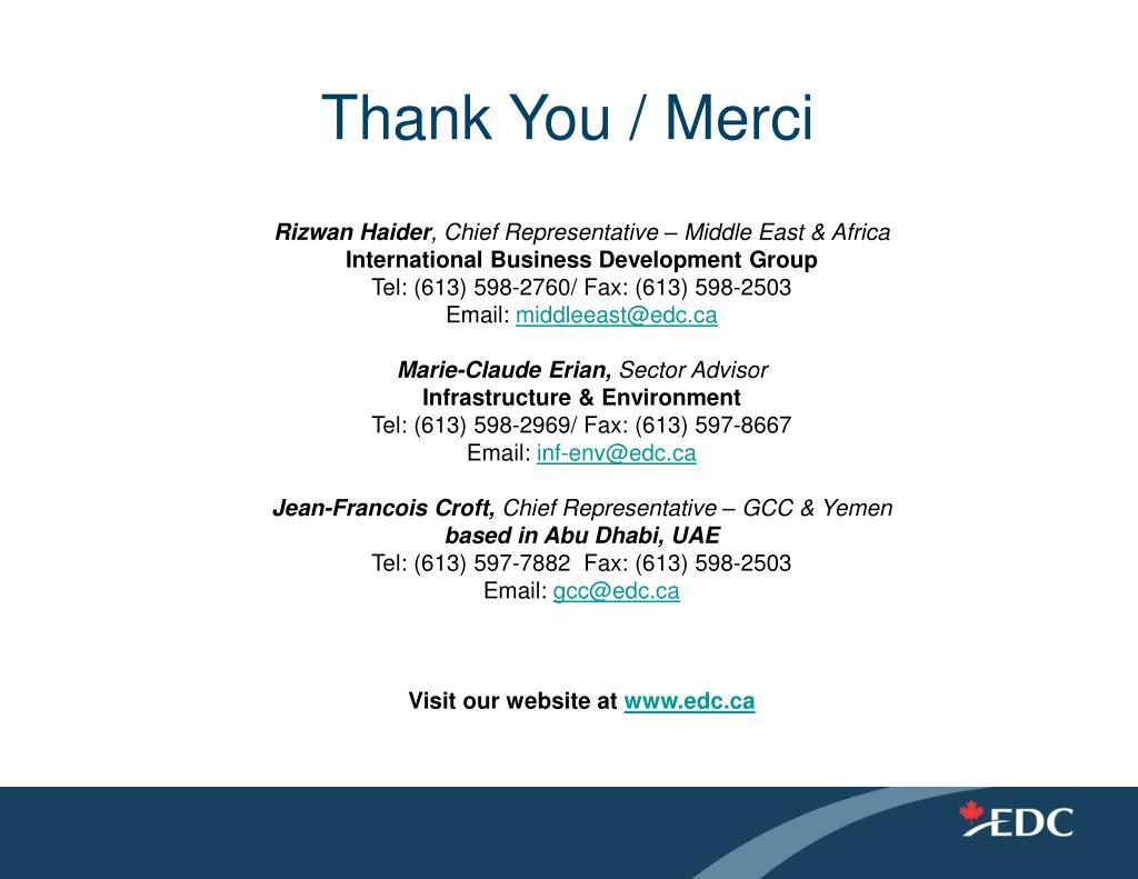 Thank You / Merci