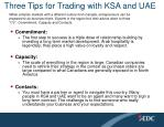 three tips for trading with ksa and uae