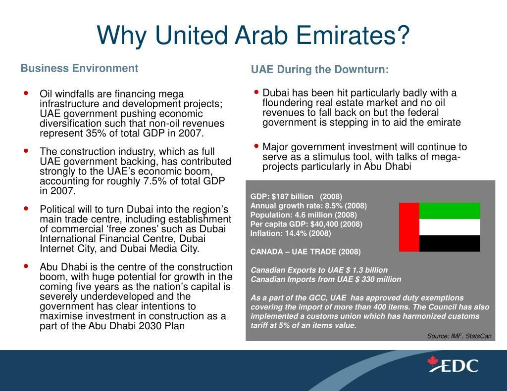 Why United Arab Emirates?