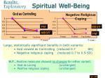 spiritual well being