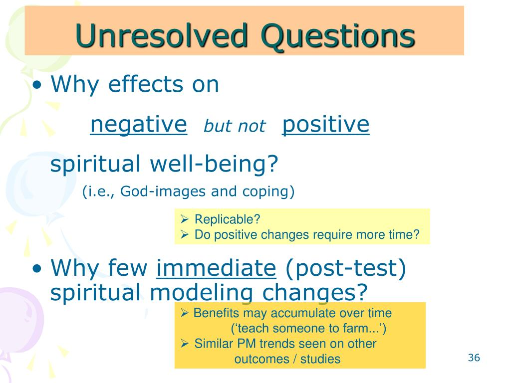 Unresolved Questions