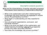 descriptive analysis questions