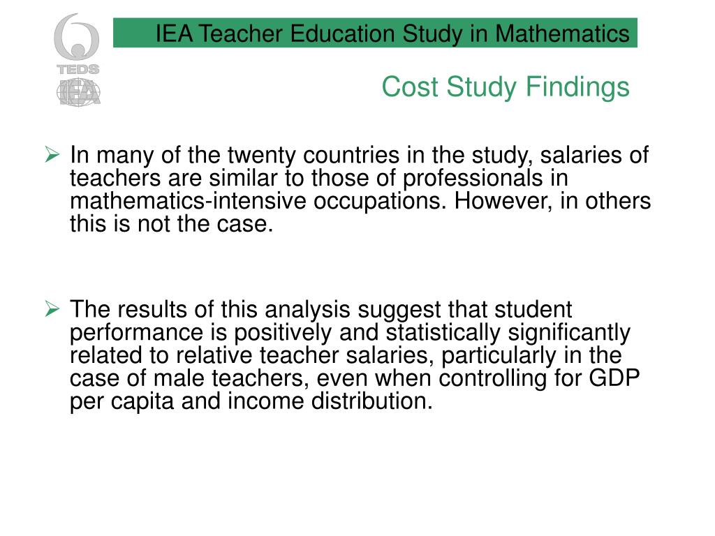 Cost Study Findings