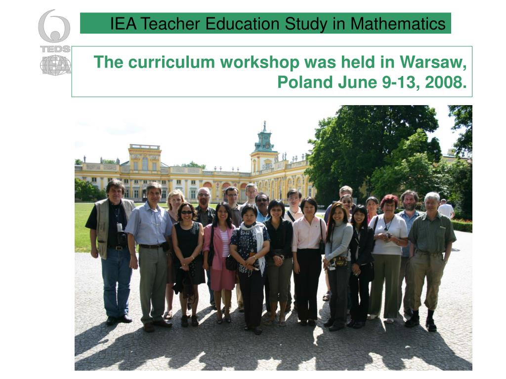 The curriculum workshop was held in Warsaw, Poland June 9-13, 2008.