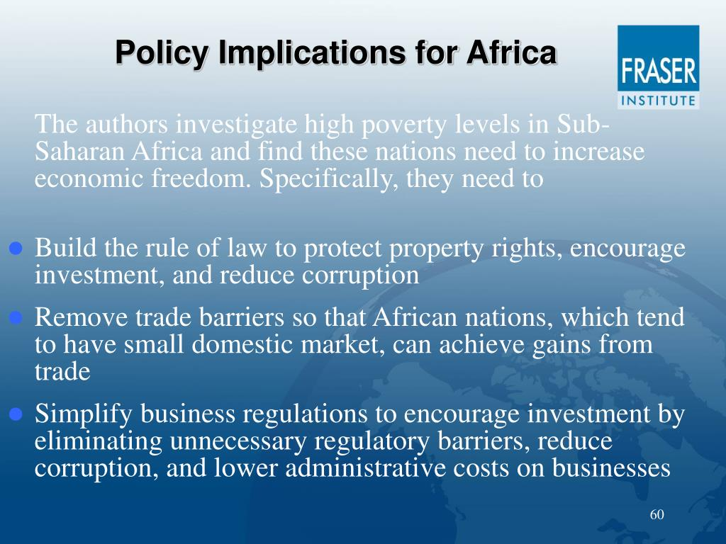 Policy Implications for Africa