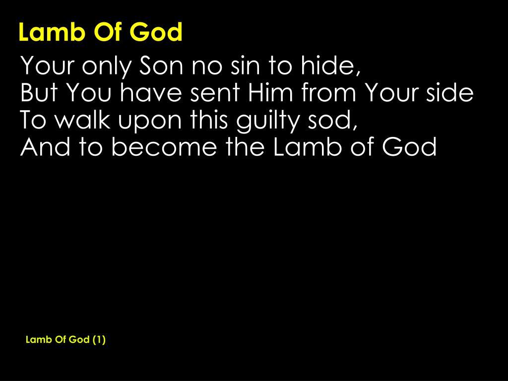 Lamb Of God (1)