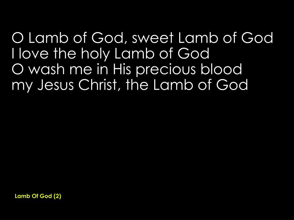 Lamb Of God (2)