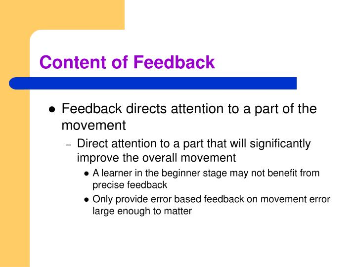 Content of Feedback