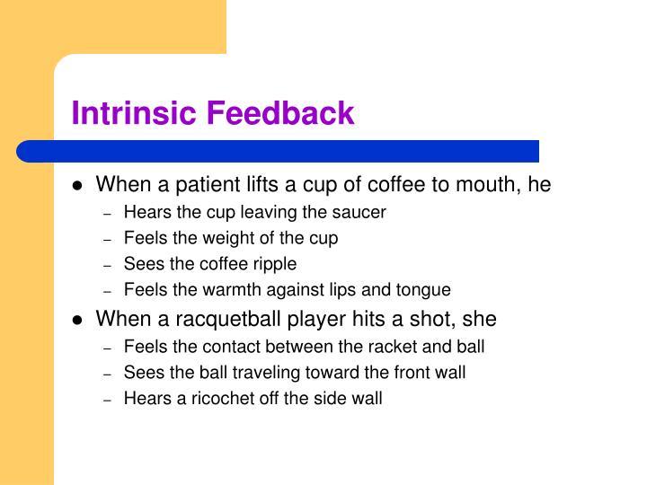 Intrinsic Feedback