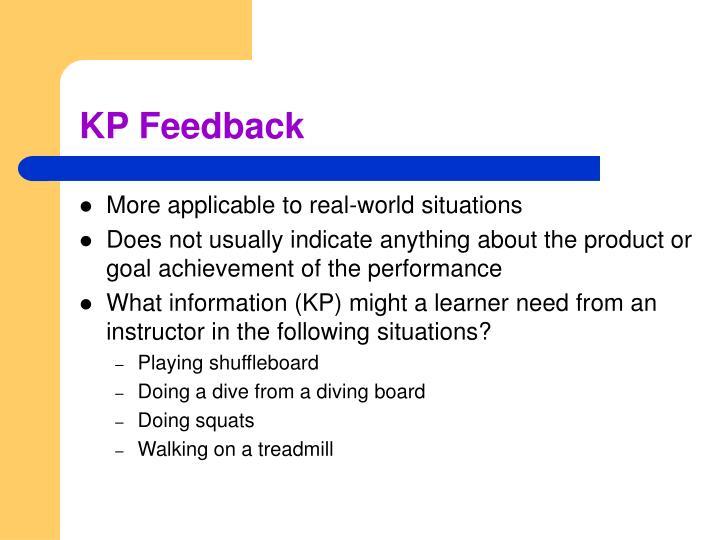 KP Feedback