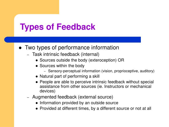 Types of feedback1
