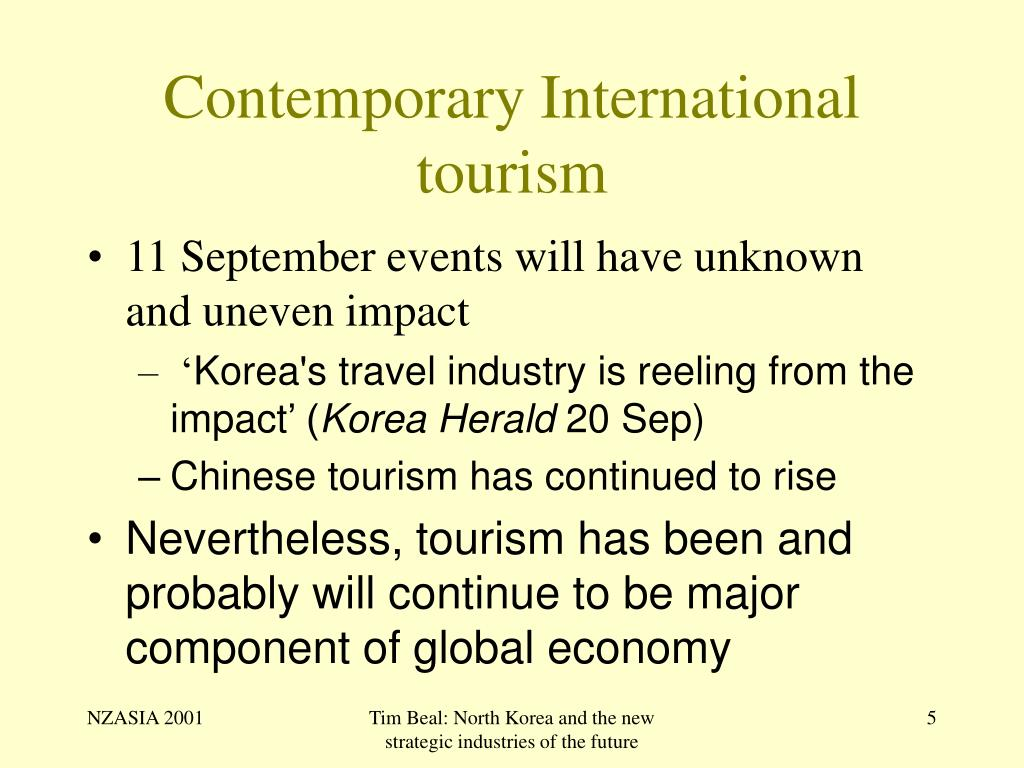 Contemporary International tourism