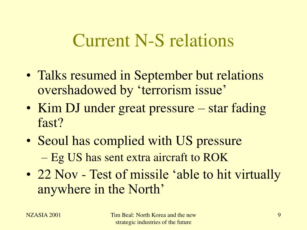 Current N-S relations