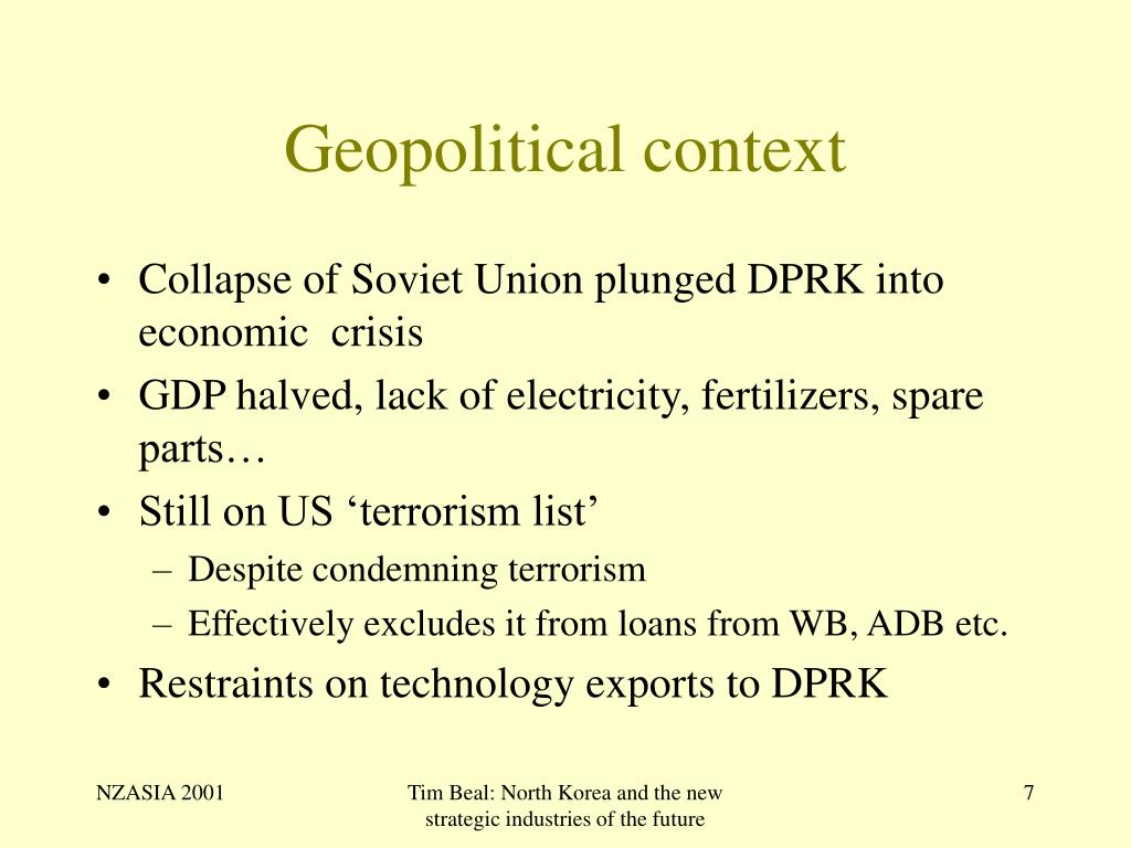 Geopolitical context