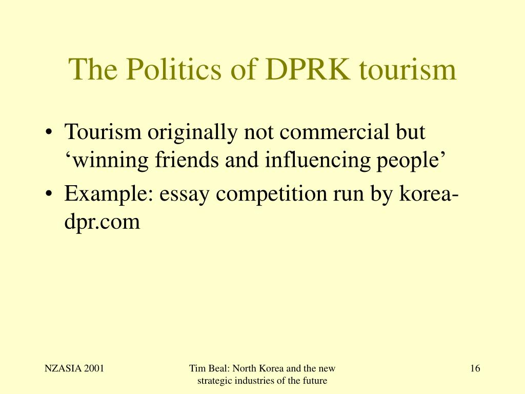 The Politics of DPRK tourism