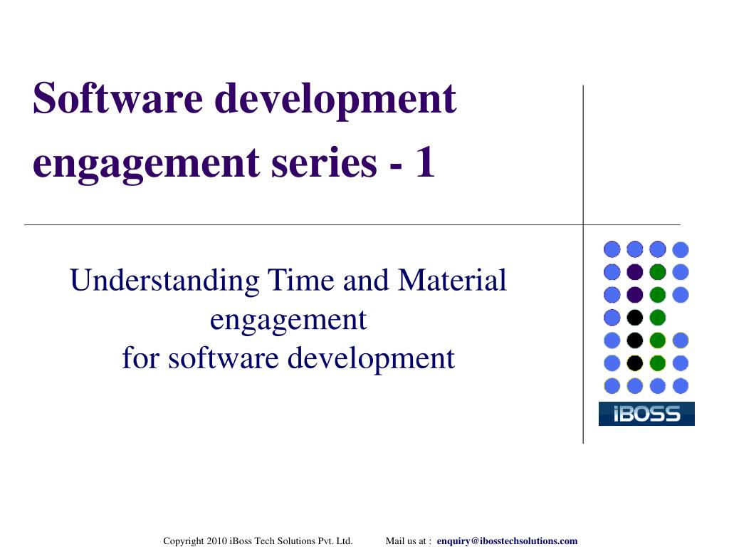Software development engagement series - 1