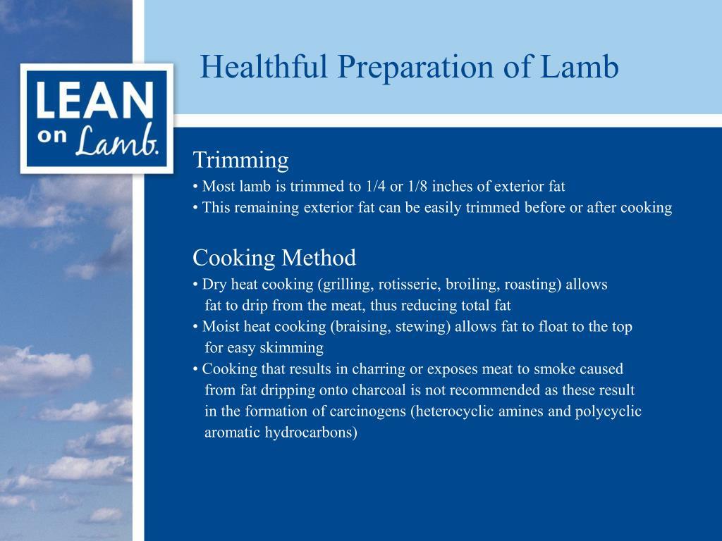Healthful Preparation of Lamb