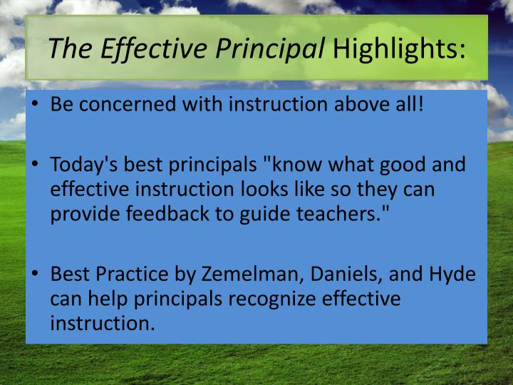 The Effective Principal