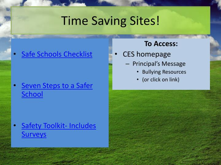 Time Saving Sites!