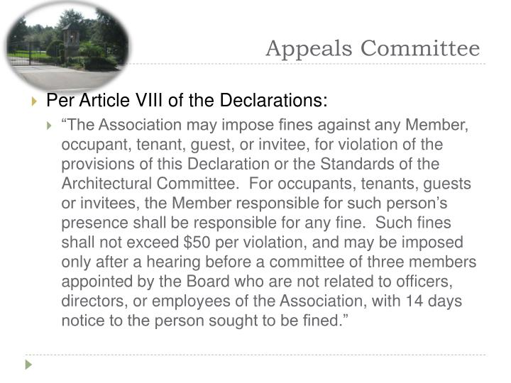 Appeals Committee