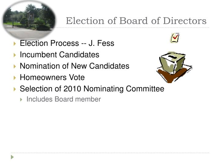 Election of Board of Directors