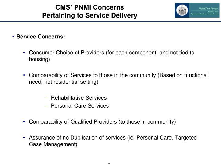 CMS' PNMI Concerns