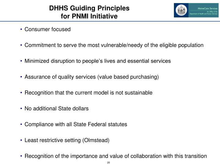 DHHS Guiding Principles
