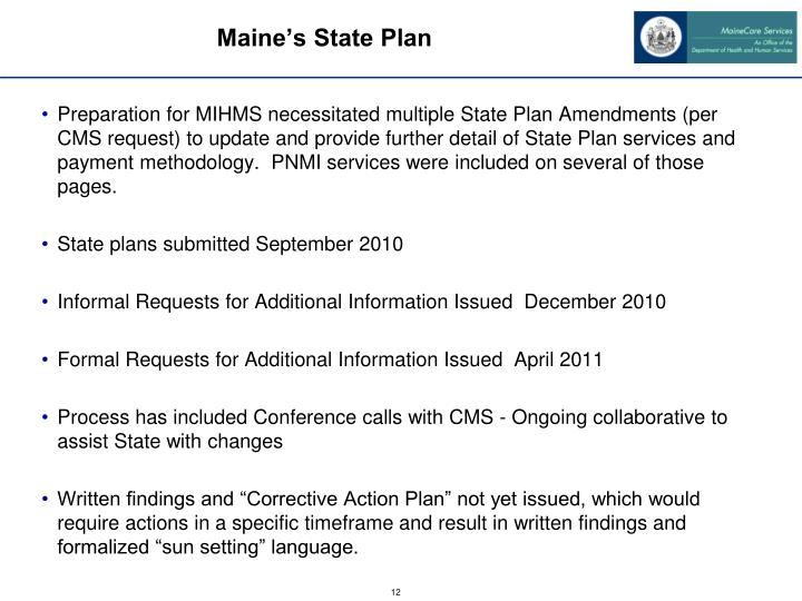 Maine's State Plan