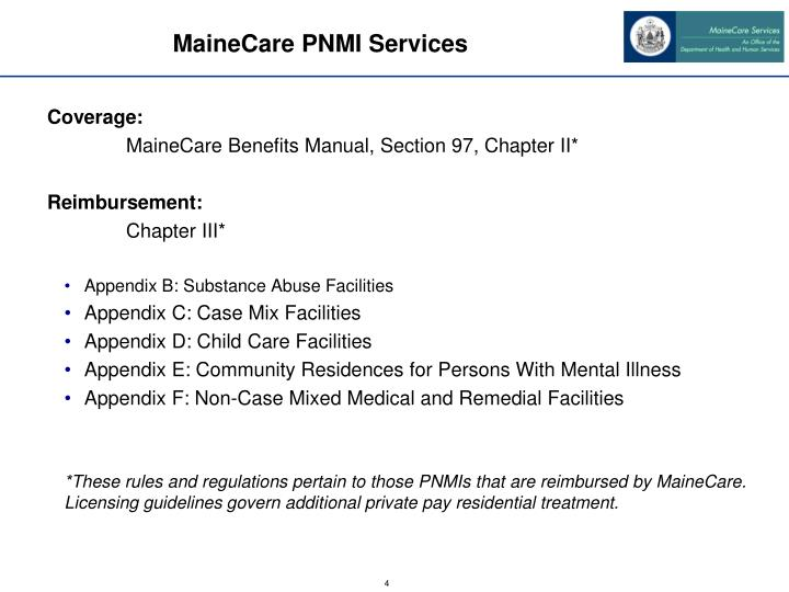 MaineCare PNMI Services