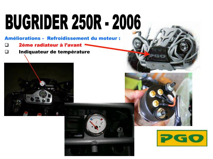 Améliorations -  Refroidissement du moteur :