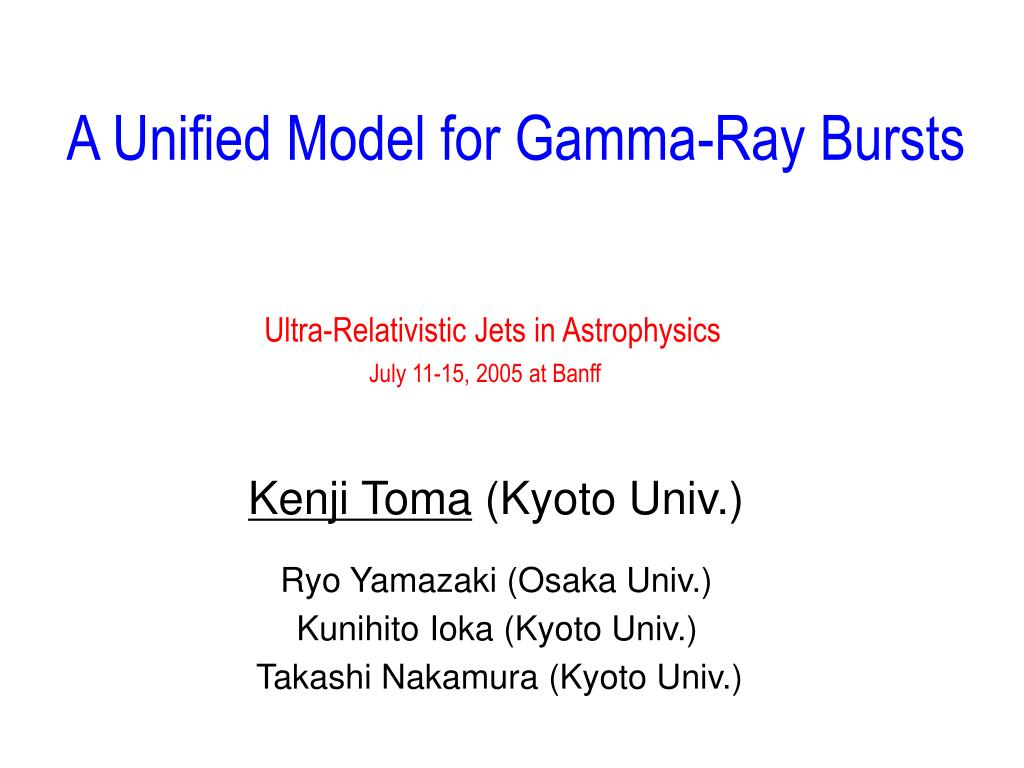 A Unified Model for Gamma-Ray Bursts