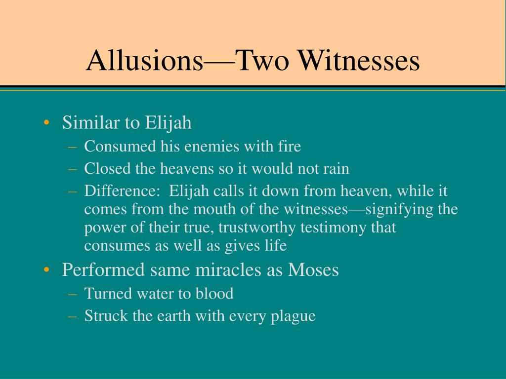 Allusions—Two Witnesses