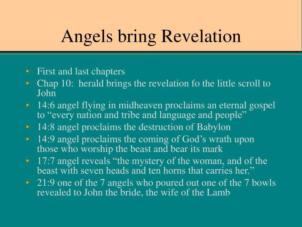 Angels bring Revelation