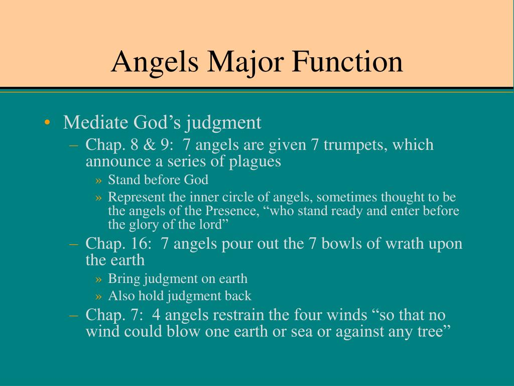 Angels Major Function