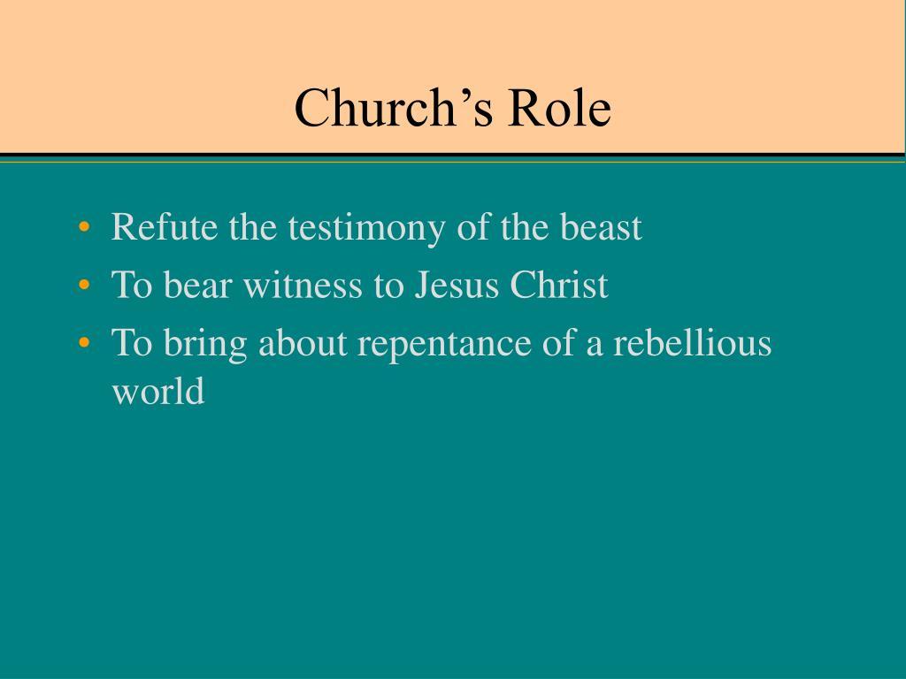 Church's Role