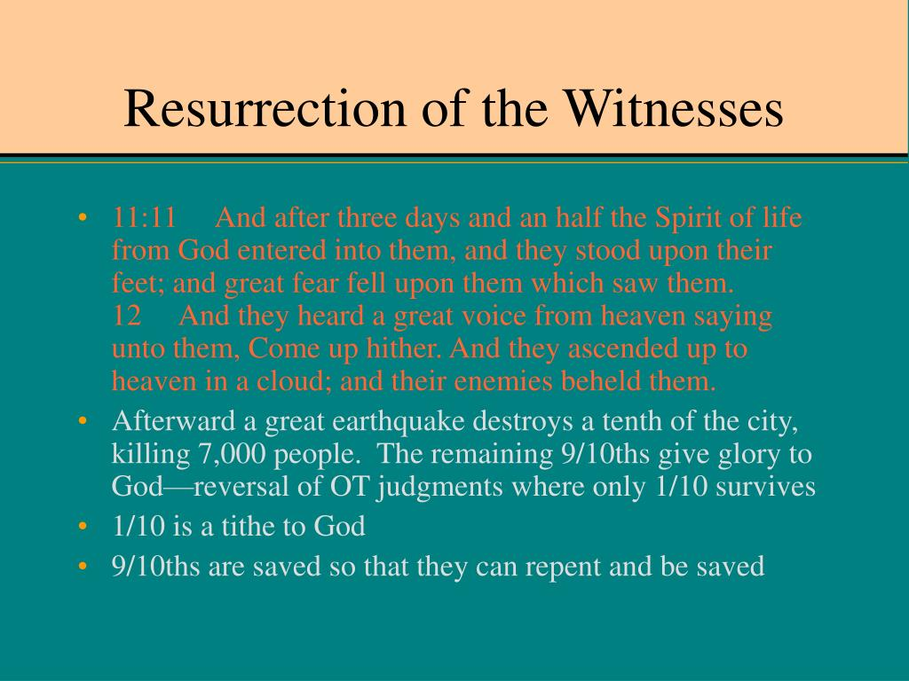 Resurrection of the Witnesses