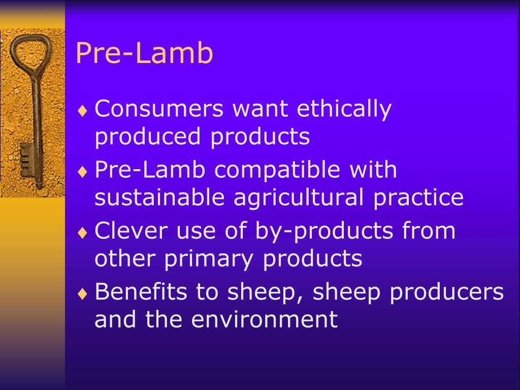 Pre-Lamb