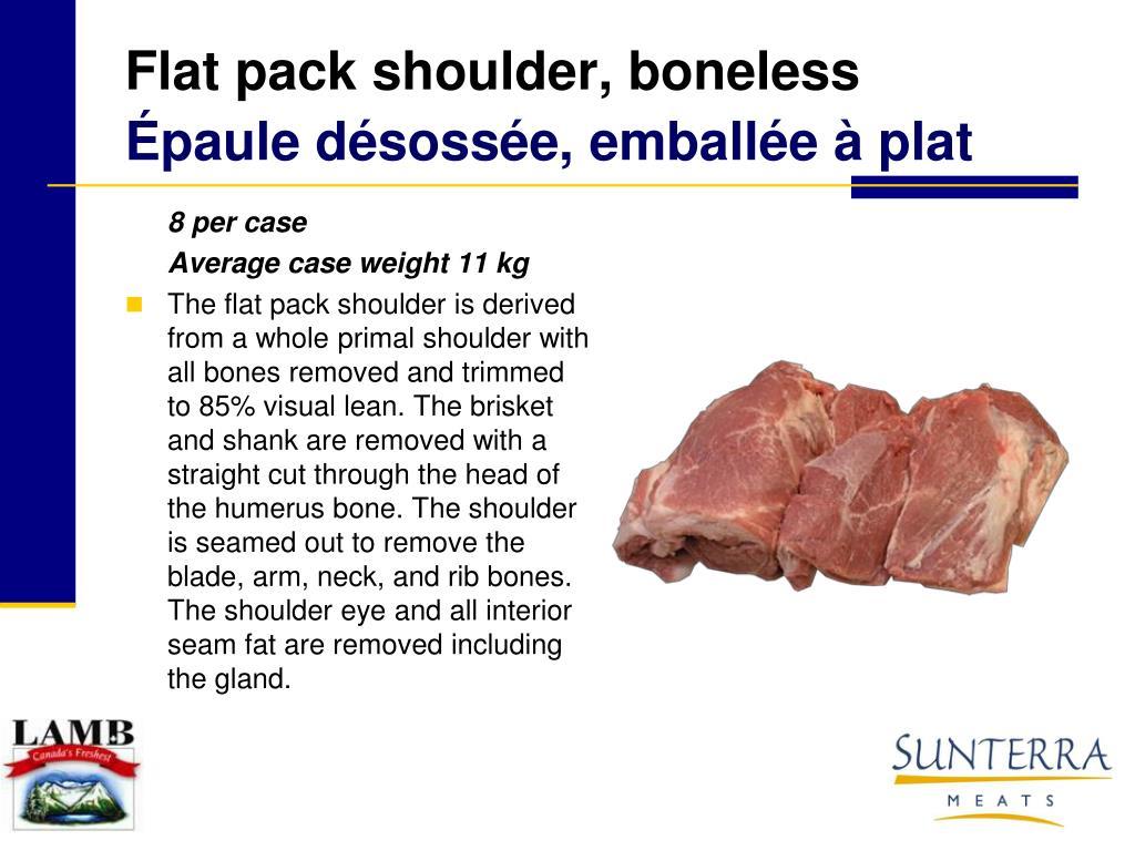 Flat pack shoulder, boneless