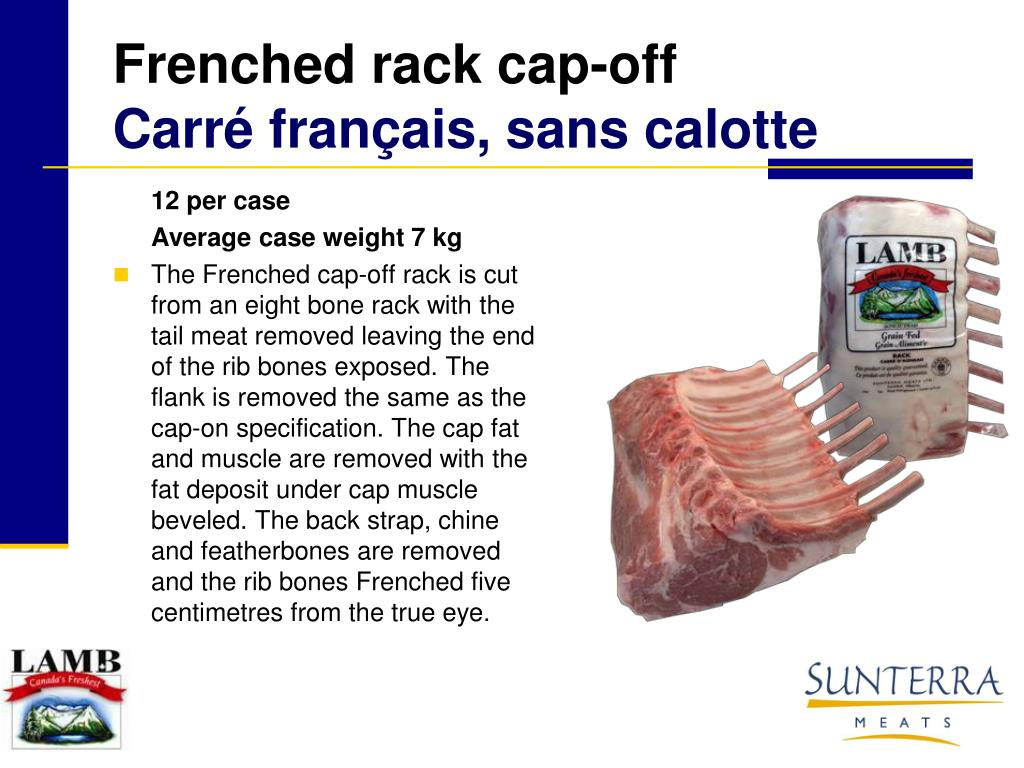 Frenched rack cap-off