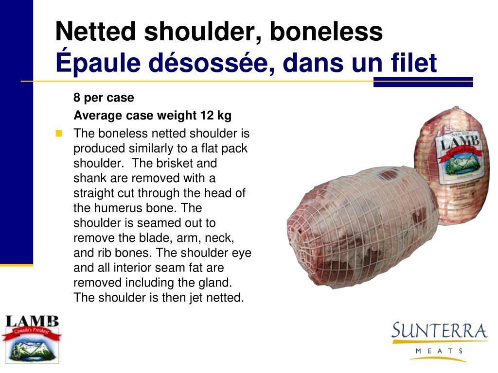 Netted shoulder, boneless