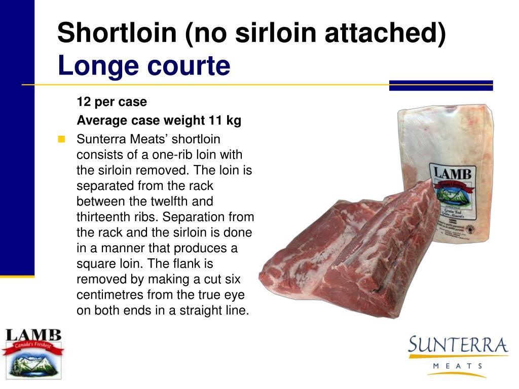 Shortloin (no sirloin attached)