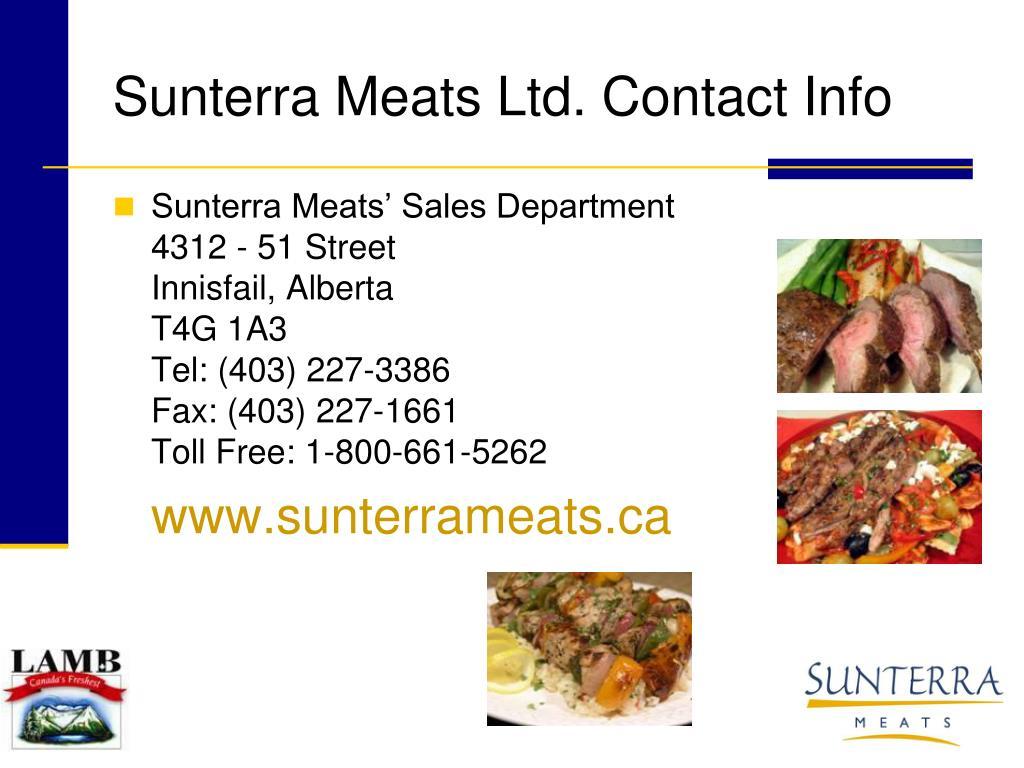 Sunterra Meats Ltd. Contact Info