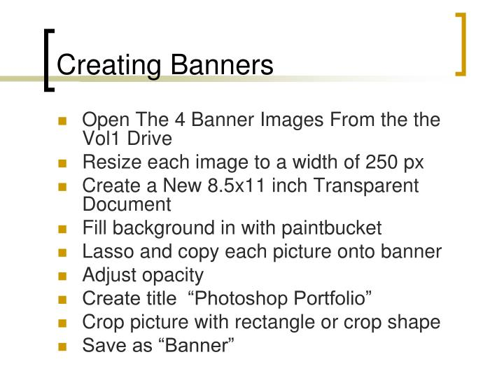 Creating Banners
